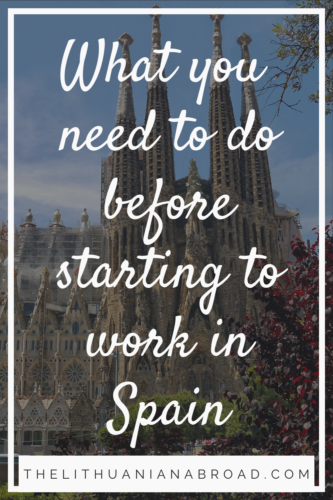 what you need to do before starting to work in Spain